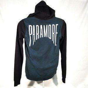 Paramore Acid Wash Blue & Black Girls Hoodie Sm